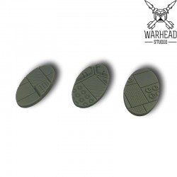 60mm Industrial Oval Bases (6)