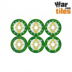 Small Wound Dials - Ancient Elder (White-Tan pattern)