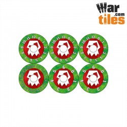 Small Wound Dials - Orks (Red Axes pattern)