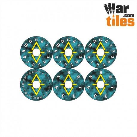 Small Wound Dials - Dark Elder (Cabal pattern)