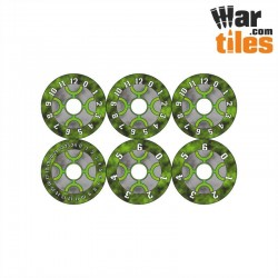 Small Wound Dials - Necrotic Guardians (Green Dynasty pattern)