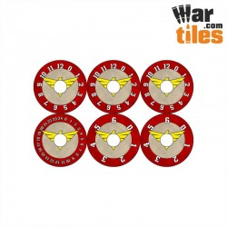 Small Wound Dials - Red Ravens