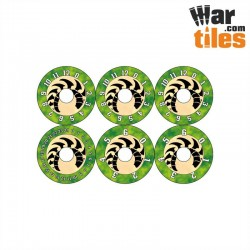 Small Wound Dials - Tyrannical Aliens (Jungle pattern)