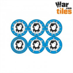 Small Wound Dials - Orks (Blue pattern)