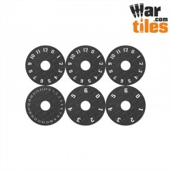 Small Wound Dials - Iron Floor