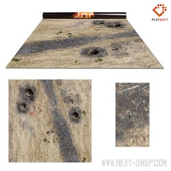 """Wasteland 1 / Vulcanic - Double-Sided 36"""" x 36"""" Mat for Battle Games"""