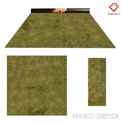 """Grass 3 / Desert - Double-Sided 36"""" x 36"""" Mat for Battle Games"""