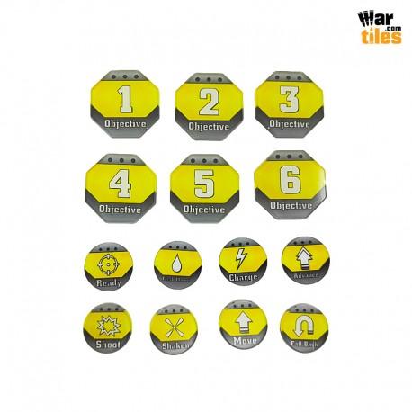 Kill Teams Tokens Set - Yellow