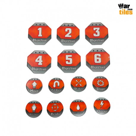 Kill Teams Tokens Set - Orange