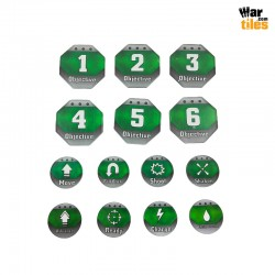 Kill Teams Tokens Set - Dark Green