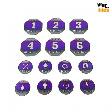 Kill Teams Tokens Set - Purple