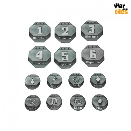 Kill Teams Tokens Set - Grey