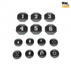 Kill Teams Tokens Set - Black