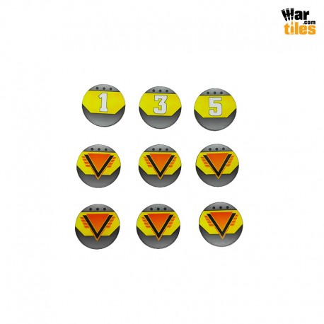 Kill Teams Commander Tokens Set - Yellow