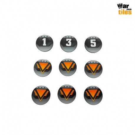 Kill Teams Commander Tokens Set - Black