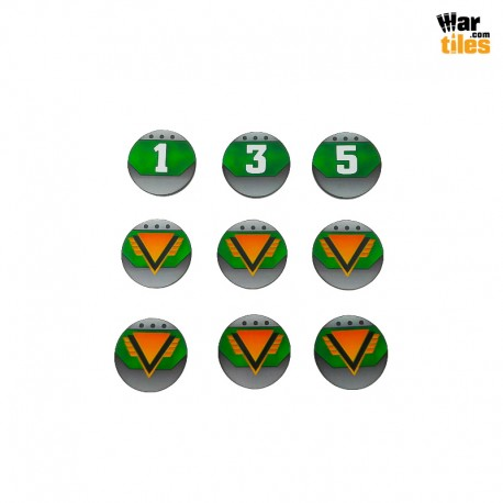 Kill Teams Commander Tokens Set - Dark Green