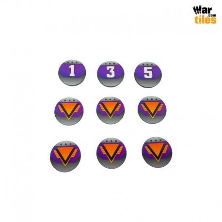 Kill Teams Commander Tokens Set - Purple