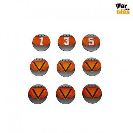 Kill Teams Commander Tokens Set - Orange