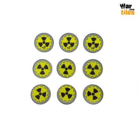 Fallout Radioactive Tokens Set