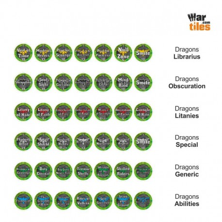 Space Warriors Tokens Set - Dragons