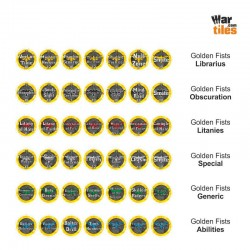 Space Warriors Tokens Set - Golden Fists