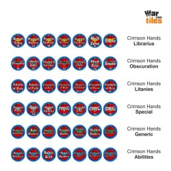 Space Warriors Tokens Set - Crimson Hands