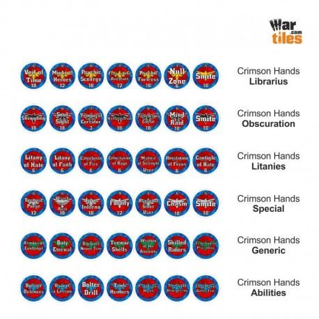 Space Warriors Tokens Set - Crimson Hands
