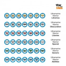 Space Warriors Tokens Set - Ultramarine Warriors