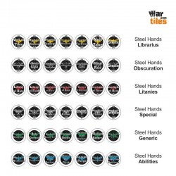 Space Warriors Tokens Set - Steel Hands