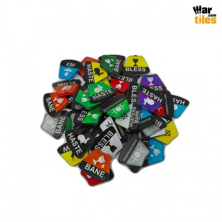 Dungeons and Dragons Spells Tokens Set