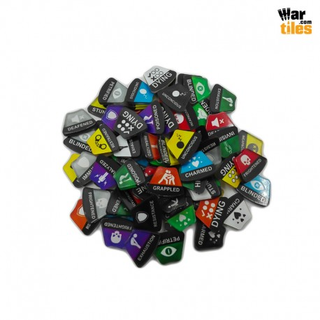 Dungeons and Dragons Statuses Tokens Set