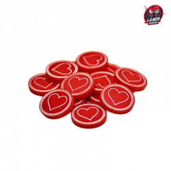Heart Tokens Set (10)