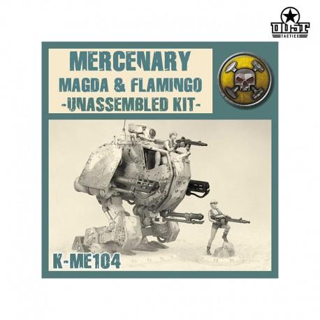 Mercenary Magda & Pink Flamingo (Unassembled)