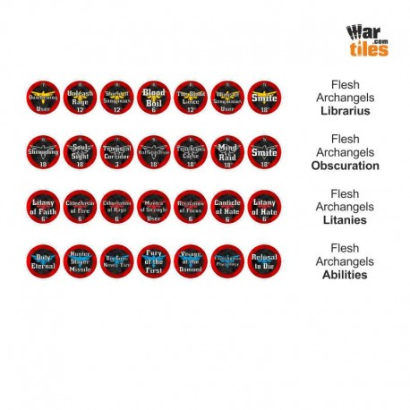 Space Warriors Tokens Set - Flesh Archangels
