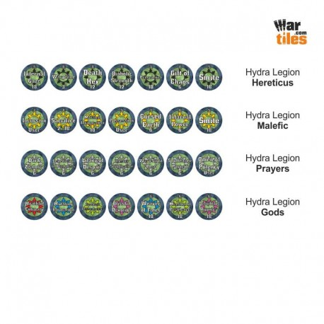 Chaotic Warriors Tokens Set - Hydra Legion