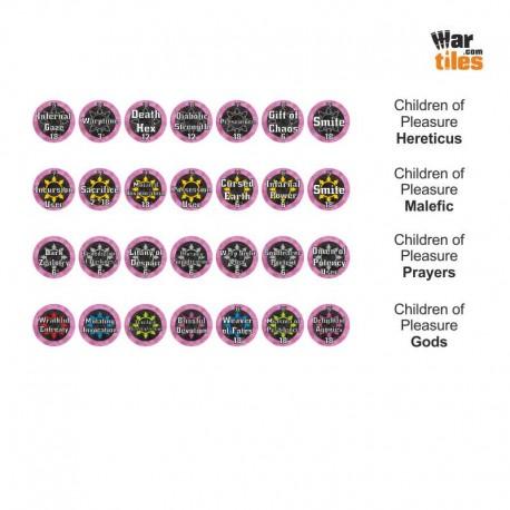 Chaotic Warriors Tokens Set - Children of Pleasure