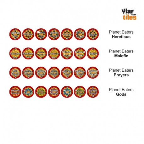 Chaotic Warriors Tokens Set - Planet Eaters