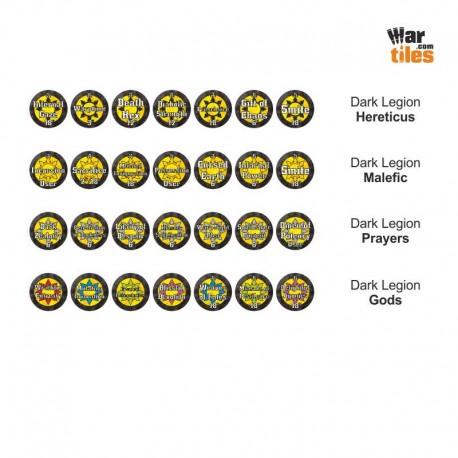 Chaotic Warriors Tokens Set - Dark Legion