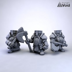 Dwarf Warriors with axes