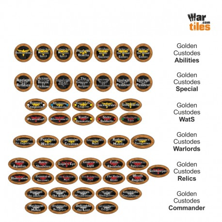 Golden Custodes Token set