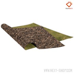 """Copper Lands / Grass 3 - Double-Sided 72"""" x 48"""" Mat for Battle Games"""