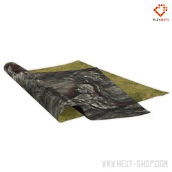 Rocky Plain / Grass 3 – Double-Sided 48″ x 48″ Mat for Battle Games