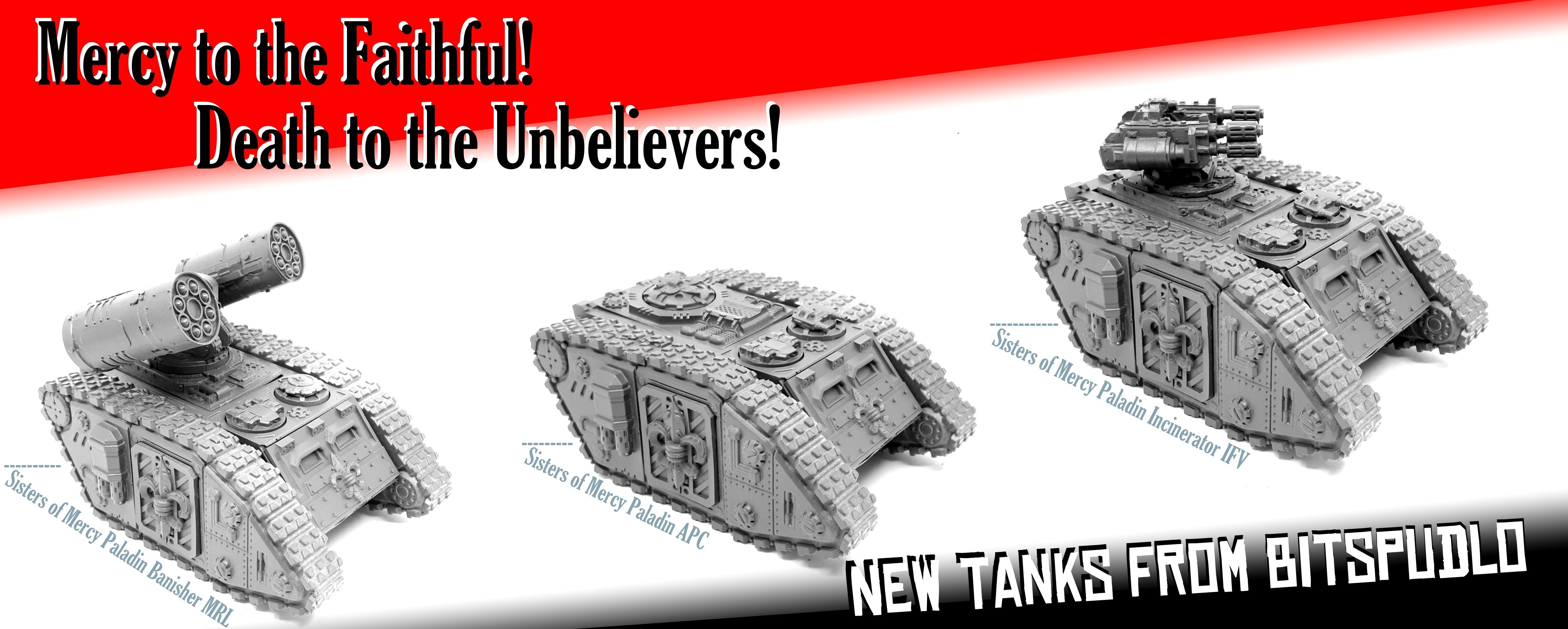New tanks for Sisters of Mercy!